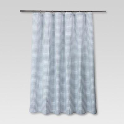 Honeycomb Shower Curtain Blue - Threshold™