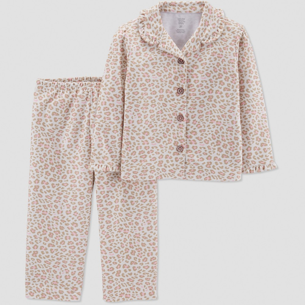 Baby Girls' Leopard Print Coat Pajama Set - Just One You made by carter's Brown 12M