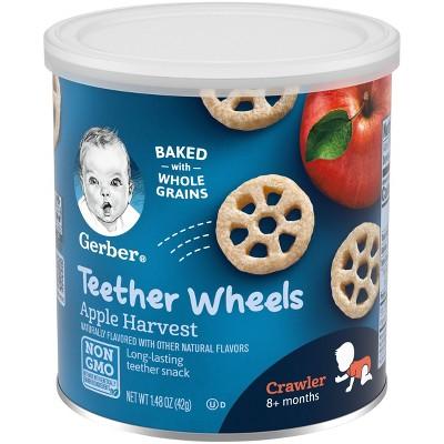 Gerber Teether Wheels Apple Harvest Baby Snacks - 1.48oz