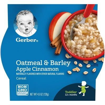 Gerber Breakfast Buddies Oatmeal & Barley Apple Cinnamon Baby Cereal - 4.5oz