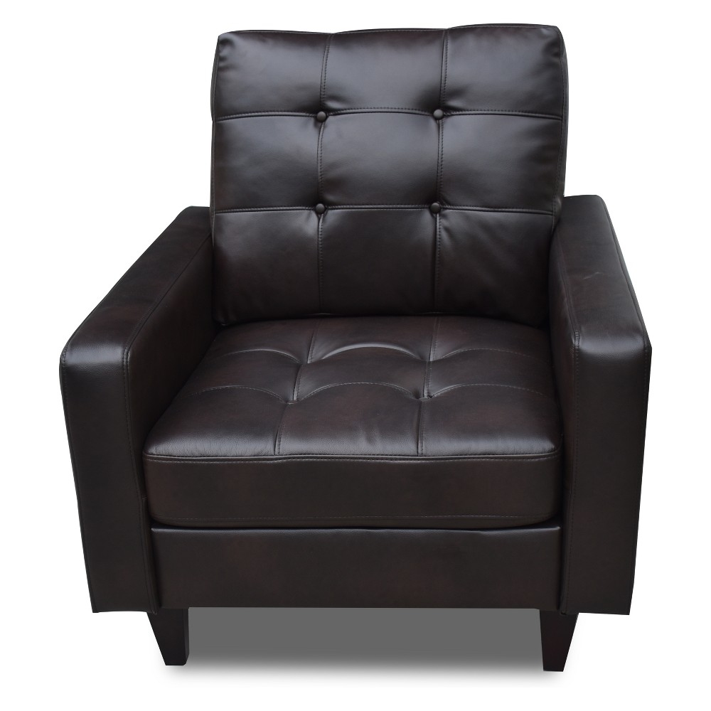 Acme Furniture Nate Chair Leather Espresso Brown