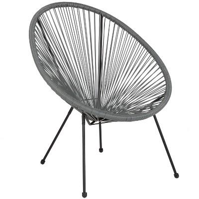 Flash Furniture Valencia Oval Comfort Series Take Ten Papasan Lounge Chair