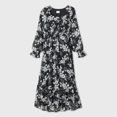 Long Sleeve Chiffon Maternity Dress - Isabel Maternity by Ingrid & Isabel™