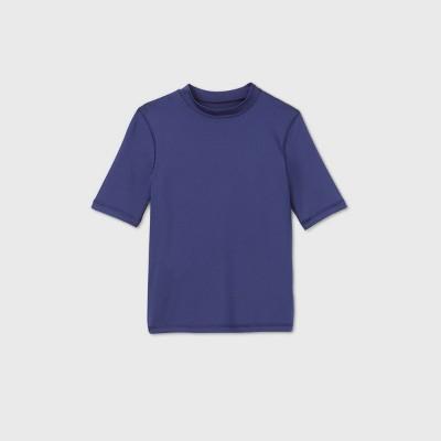 Boys' Short Sleeve Rash Guard Swim Shirt - Cat & Jack™ Navy
