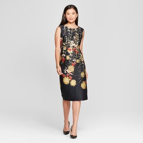 d4681a3628ca2 Women s Floral Print Scuba Midi Dress - Melonie T -   Target