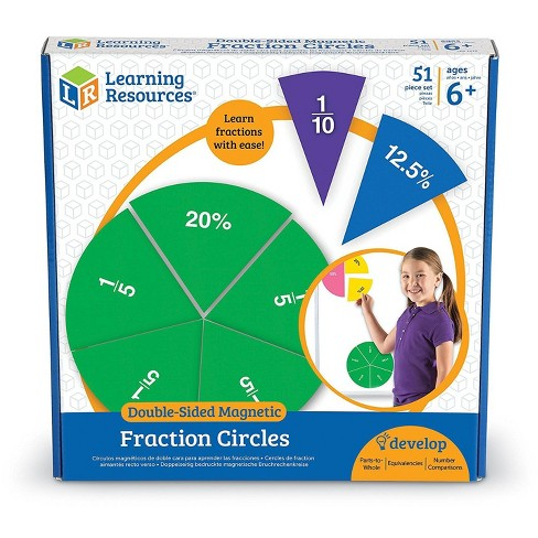 Learning Resources Learning Res.Doublee-sided Magnetic Fraction Circles - image 1 of 4
