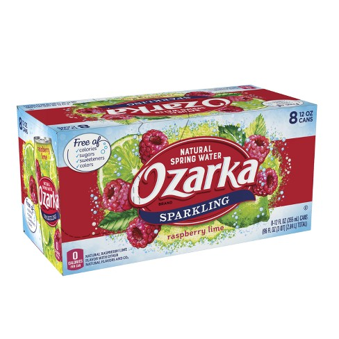 Ozarka Rasp Lime Sparkling Water - 8pk/12 fl oz Cans - image 1 of 8