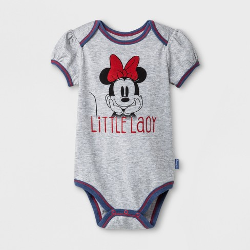 ae369326f5e Baby Girls  Disney Mickey Mouse   Friends Minnie Mouse 3pc Short Sleeve  Bodysuit