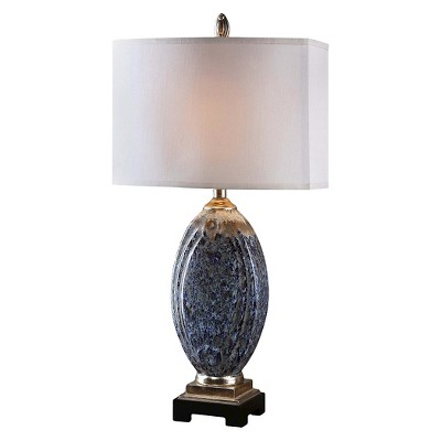 Uttermost Blue Latah Lamp  - Blue