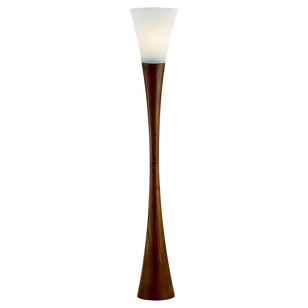 Adesso Espresso Floor Lamp - Brown