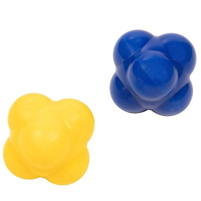 Juvale 2 Pack Rubber Reaction Bounce Balls for Coordination, Agility, Speed, Reflex Training