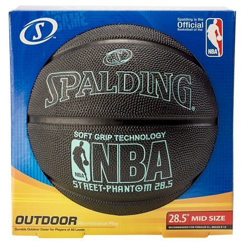"Spalding NBA Street Phantom 28.5"" Basketball - Black/Teal - image 1 of 2"