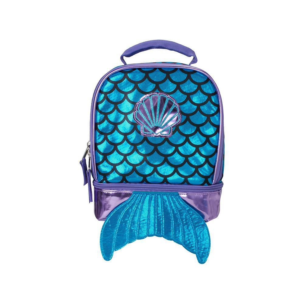 Image of True Mermaid Dual Compartment Lunch Bag - Turquoise, Blue