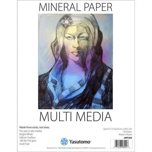 Yasutomo Mixed Media Mineral Paper Pad, 9 x 12 Inches, 20 Sheets - image 1 of 1