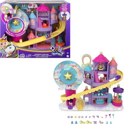 Polly Pocket Rainbow Funland Theme Park Playset