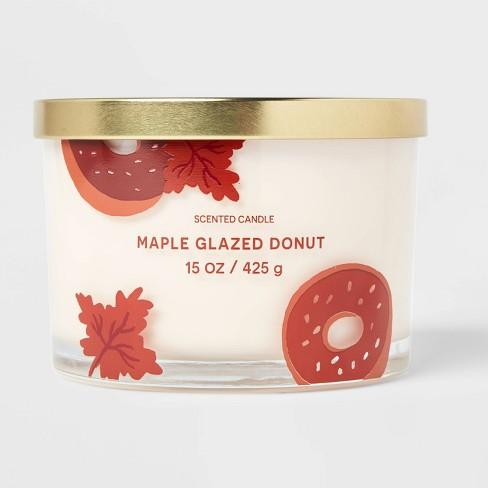 15oz Lidded Glass Jar Cream Donut Print 3-Wick Maple Glazed Donut Candle - Opalhouse™ - image 1 of 4