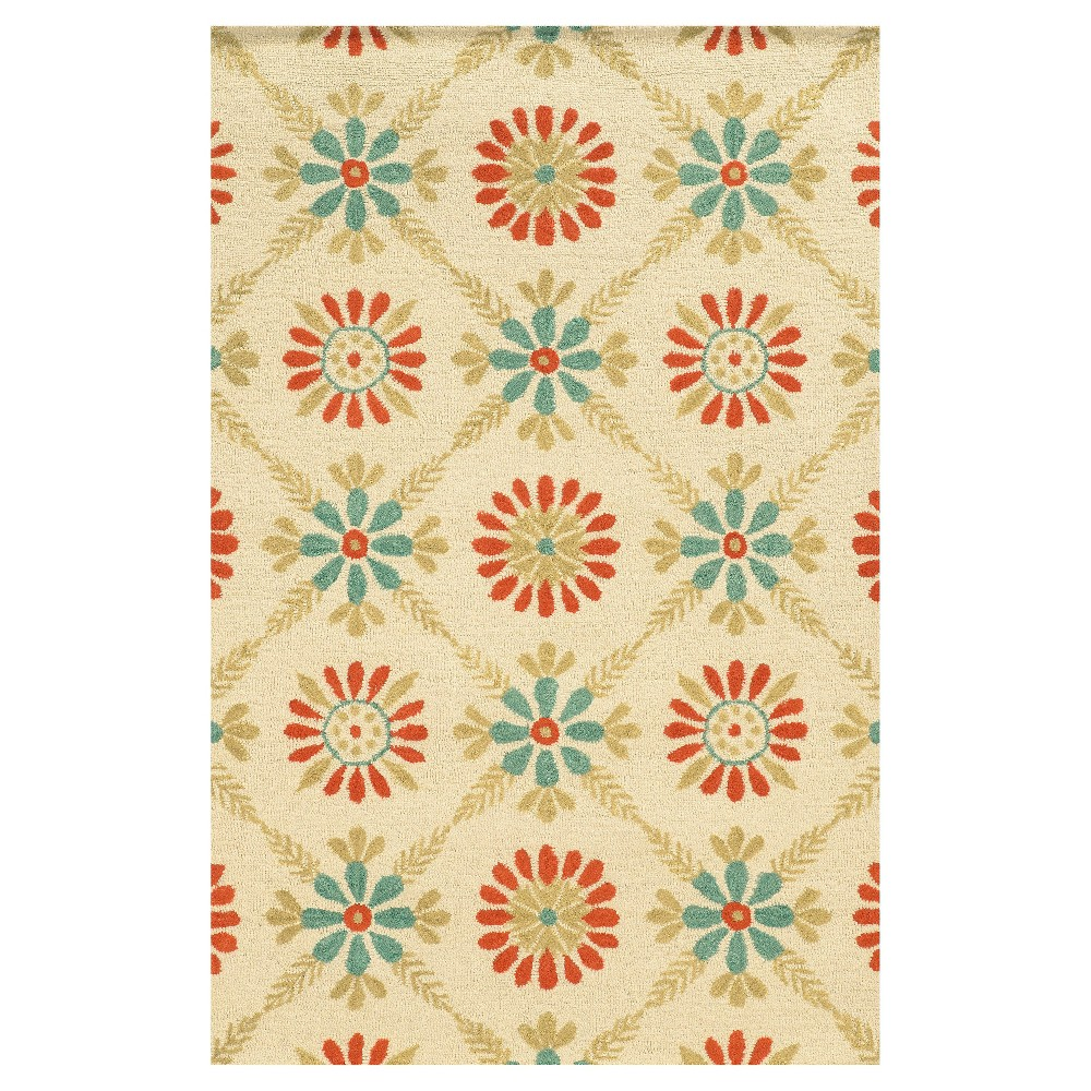 "Image of ""2'6""""X8' Trellis Floral Runner Red - Rizzy Home, Size: 2'6""""X8' RUNNER"""