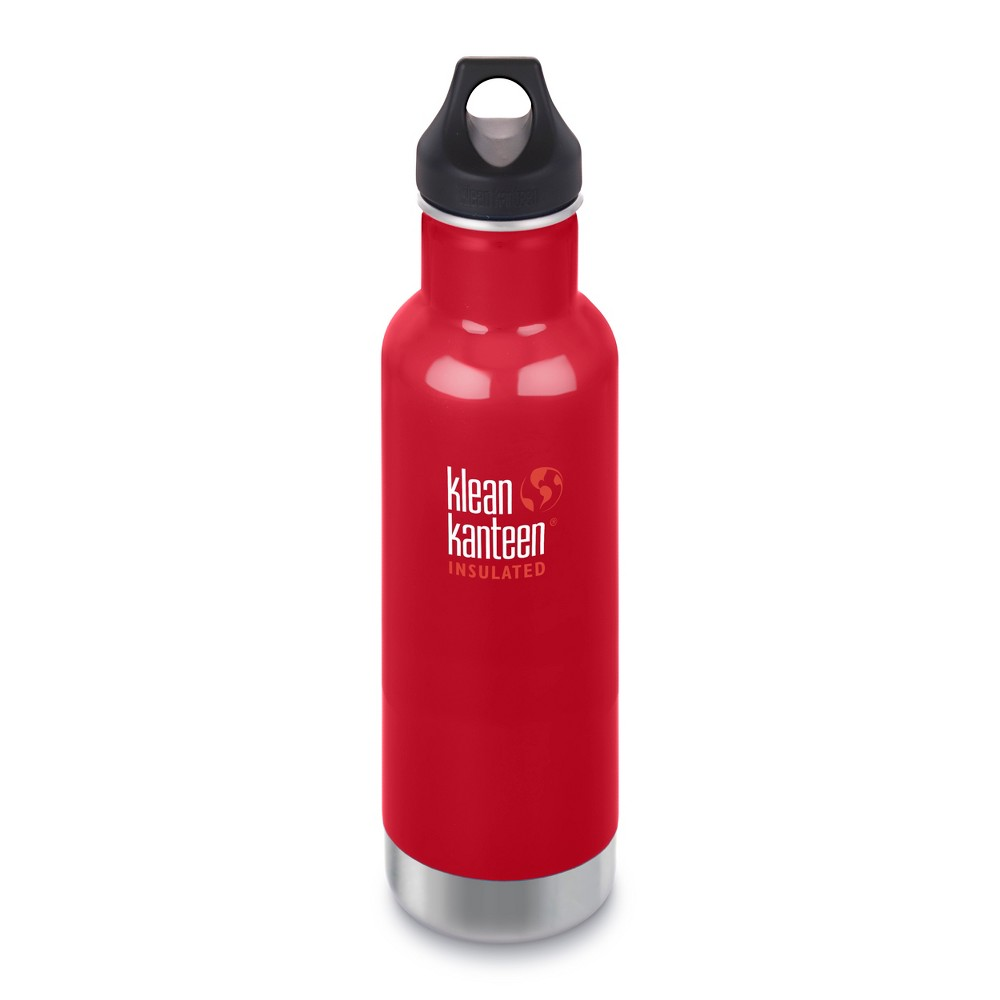Klean Kanteen 20oz Classic Insulated Stainless Steel Water Bottle - Red