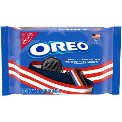 Oreo Limited Edition Olympic Team USA Sandwich Cookies Family Size - 12oz