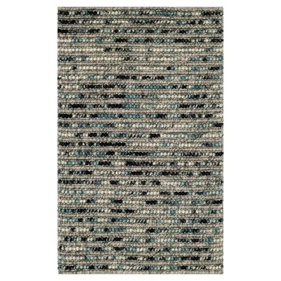 Gray Stripe Woven Accent Rug - (2'X3')- Safavieh®