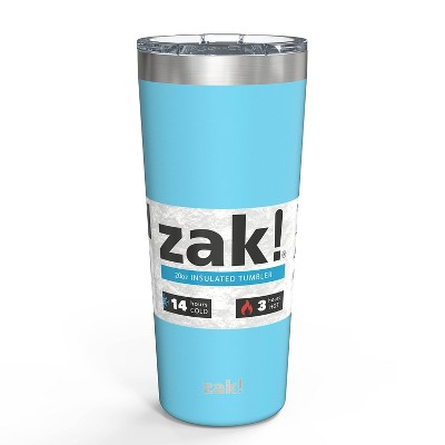 Zak! Designs 20oz Double Wall Stainless Steel Latah Tumbler - Purist Blue
