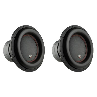 AudioPipe TXX-BDC4-12D2 12 Inch 2,200 Watt High Performance Powerful Dual 2 Ohm DVC Vehicle Car Audio Subwoofer Speaker System, Black (2 Pack)