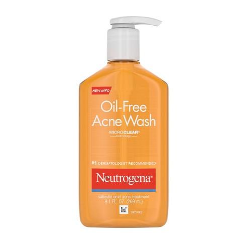 Neutrogena Oil Free Salicylic Acid Acne Fighting Face Wash 9 1
