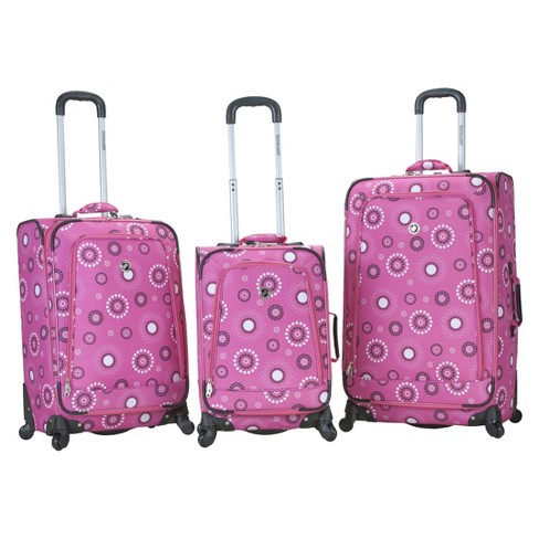 Rockland Fusion 3pc Expandable Spinner Luggage - image 1 of 4