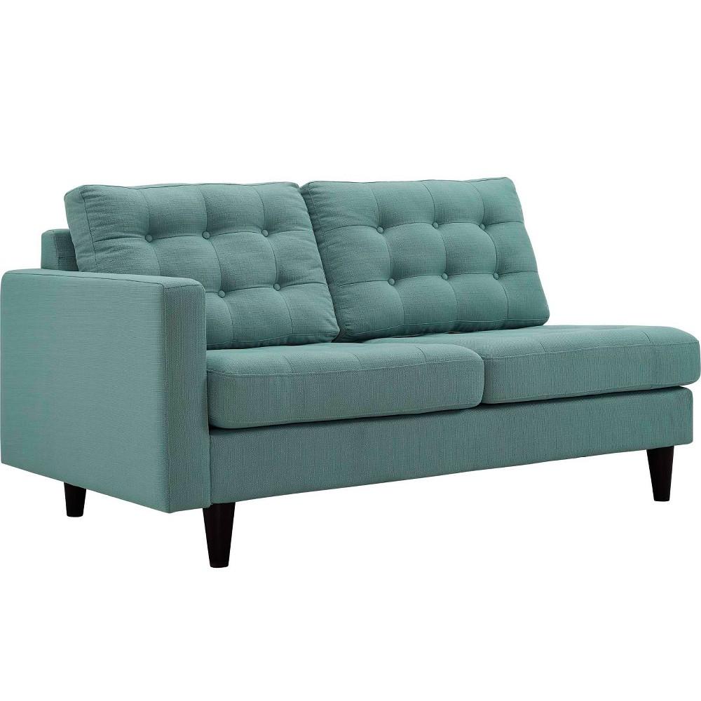 Empress LeftFacing Upholstered Fabric Loveseat Laguna - Modway