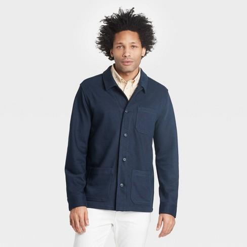 Men's Regular Fit Knit Chore Shirt Jacket - Goodfellow & Co™ - image 1 of 3