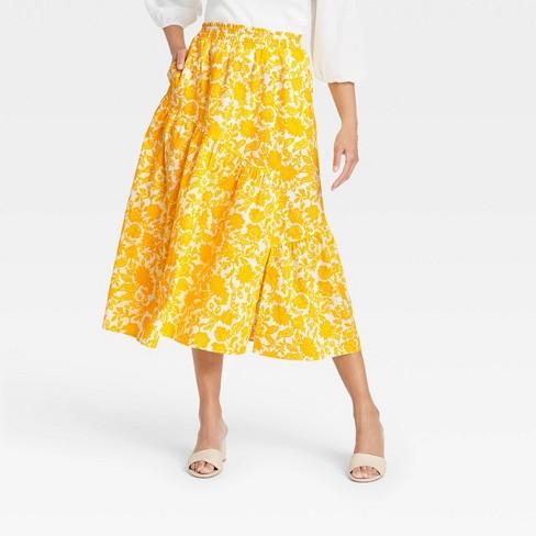 Women's Ruffle Midi Skirt - Who What Wear™ - image 1 of 3