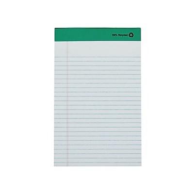 "MyOfficeInnovations Notepads 5"" x 8"" Narrow White 50 Sheets/Pad 12 Pads/PK (18592STP) 491461"