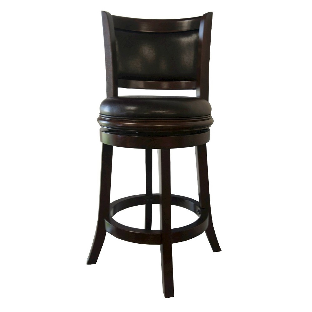 "Image of ""24"""" Augusta Swivel Counter Stool Hardwood Brown - Boraam"""