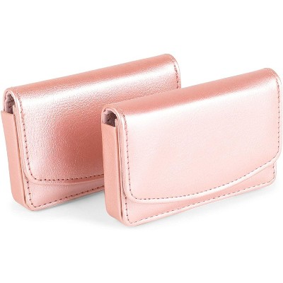 Okuna Outpost 2-Pack Rose Gold Magnetic Business Card Holders with RFID (4.15 x 2.75 x 0.8 in)