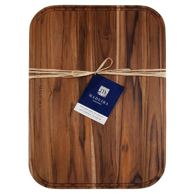 "Architec Madeira Teak Edge-Grain Carving Board with Juice Well 14""x20""x.75"""