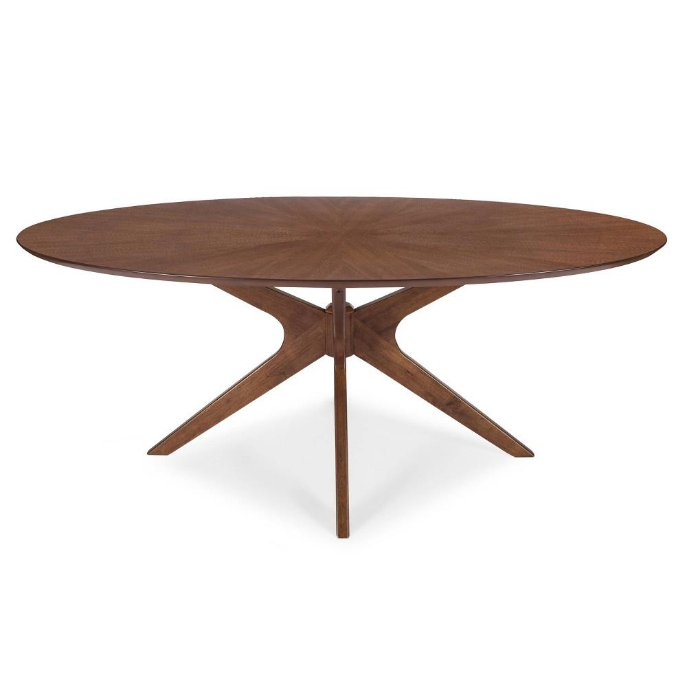 Farrah Oval Dining Table Walnut Poly And Bark