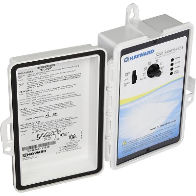 Hayward GL-235 AquaSolar Programmable In Ground Swimming Pool Water Heating Control System with Automatic Heating and Nocturnal Pool Cooling Functions