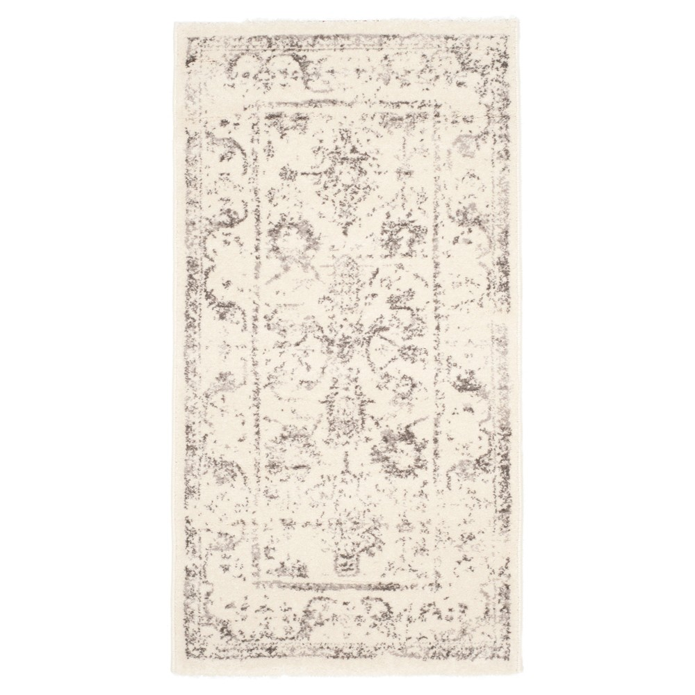 Serafina Accent Rug - Ivory / Light Gray ( 2' X 3' 7 ) - Safavieh, White