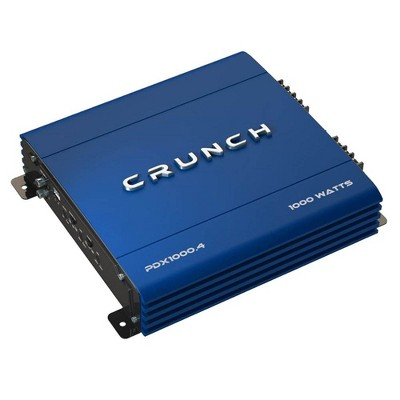 Crunch PowerDriveX 1000 Watt 4 Channel Exclusive Blue A/B Car Stereo Amplifier
