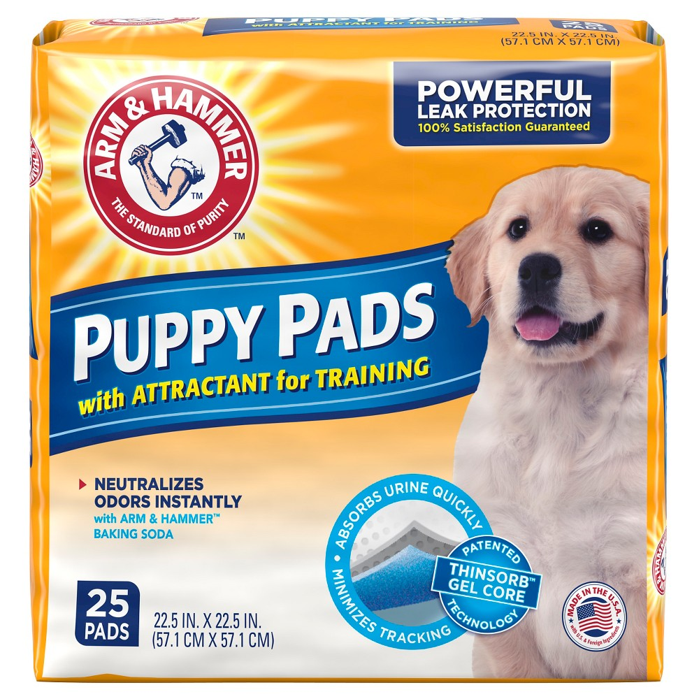 Arm & Hammer Absorbent Dog Pads and Puppy Training Pads - 25ct