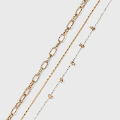 Multi-Chain and Charm Anklet 3pc - Universal Thread™