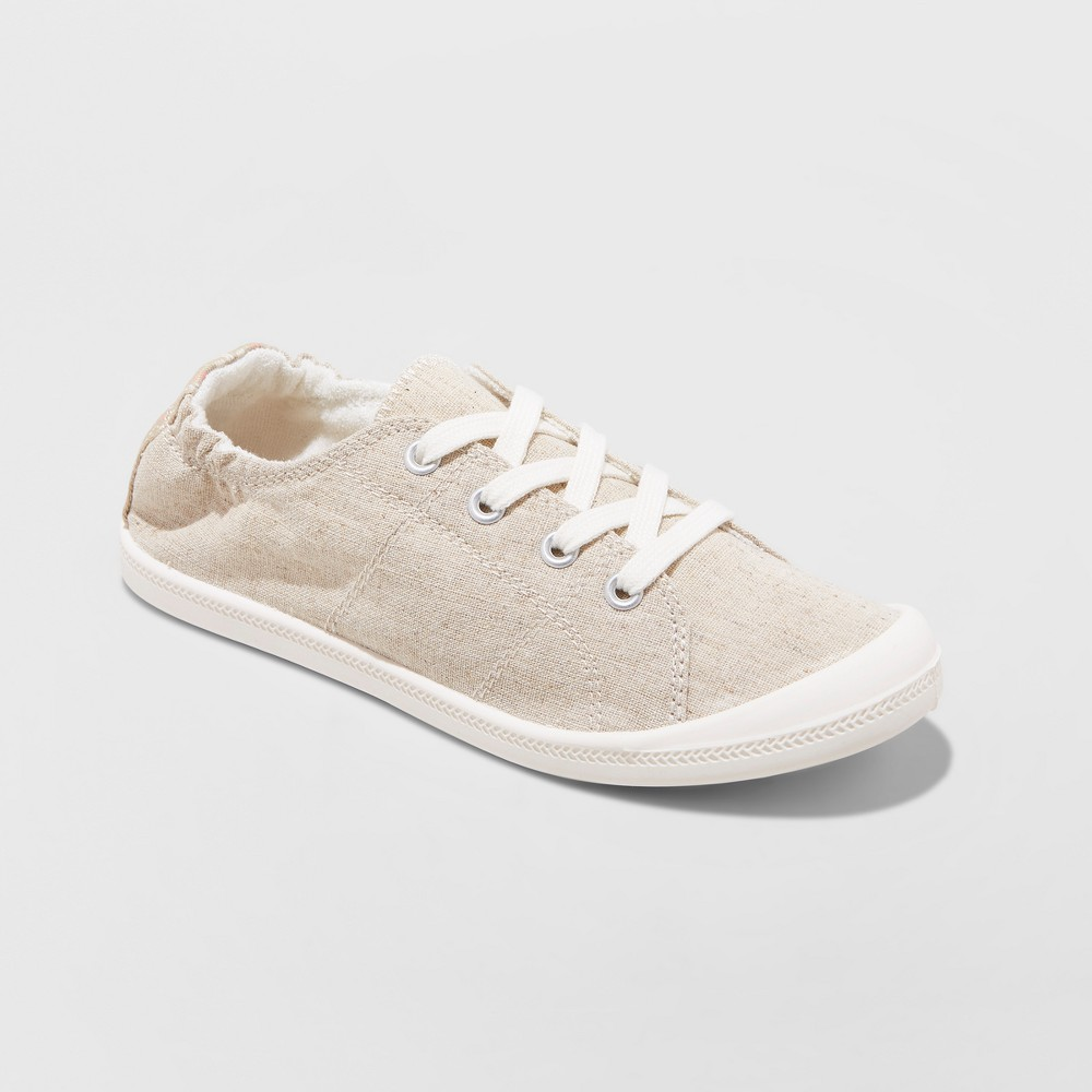 Women's Mad Love Lennie Lace up Canvas Flexible Bottom Sneakers - Tan 5