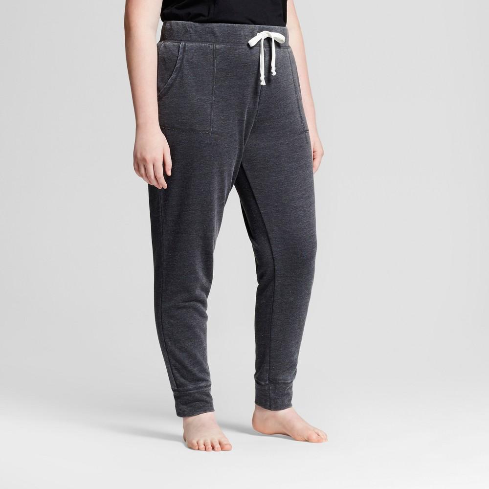 Women's Plus Size Pajama Pants - Xhilaration Night Black 1X