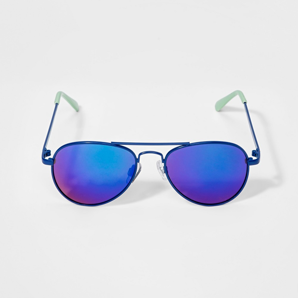 Image of Boys' Aviator Sunglasses - Cat & Jack Blue, Boy's