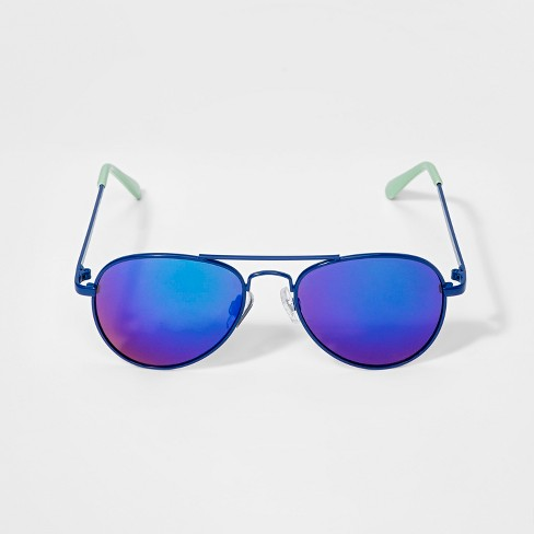 Boys' Aviator Sunglasses - Cat & Jack™ Blue - image 1 of 1