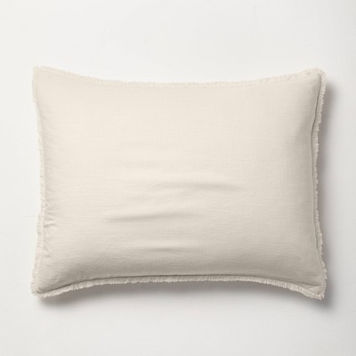 Standard Heavyweight Linen Blend Pillow Sham Natural - Casaluna™