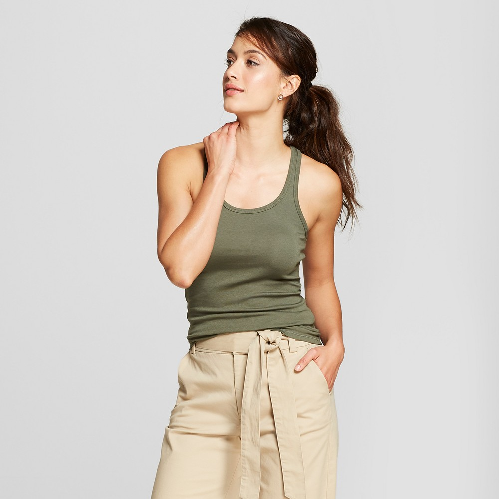 Women's Racerback Tank - A New Day Olive (Green) XS