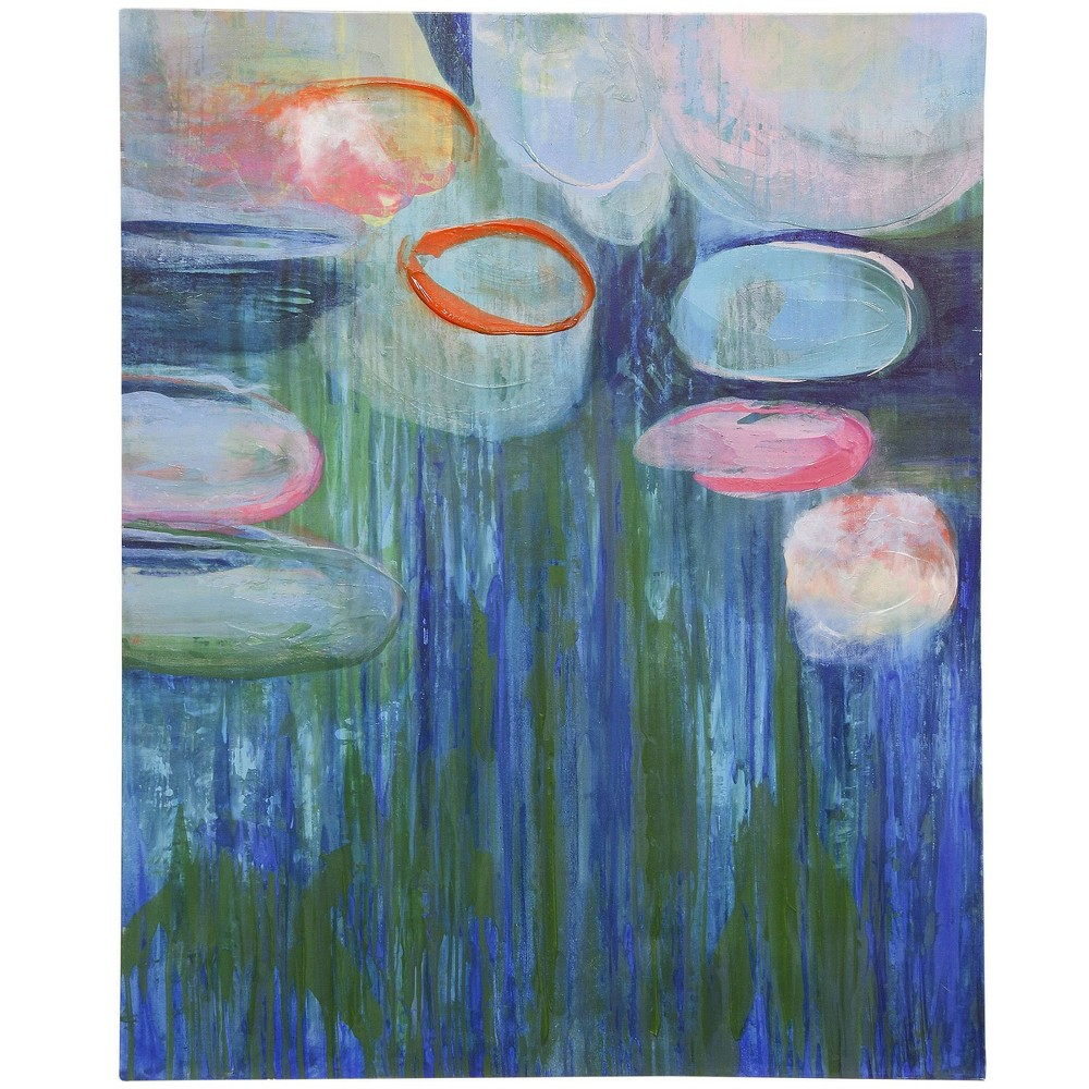 Lilly Hand Embellished Painted Print On Stretched Unframed Wall Canvas Stylecraft