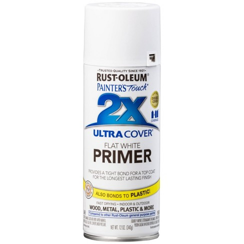 Rust-Oleum Painter's Touch 2X Ultra Cover White Primer Spray Paint 12oz