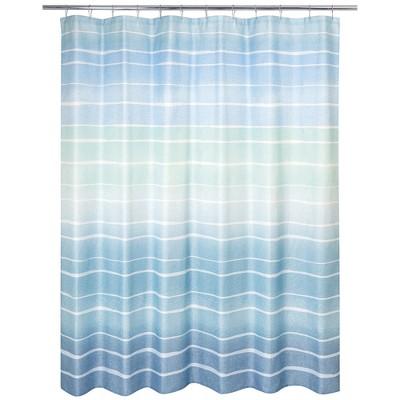 Metallic Ombre Stripe Shower Curtain Blue - Allure Home Creation